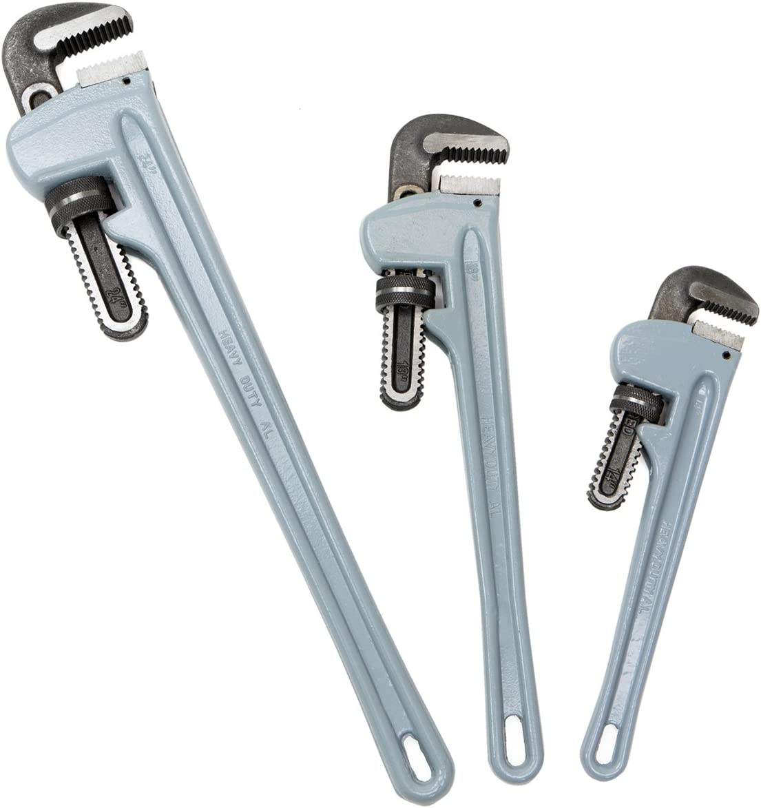 New sales Stark 3PCS Rapid rise Aluminium Pipe Wrench Adjustable Wr Plumbing Jaw