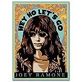 LaMAGLIERIA Hochqualitatives Poster - Joey Ramone Hey Ho