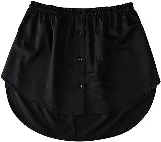kelebin Mini Skirt Shirt Extenders Adjustable Layering Fake Top Lower Sweep Set