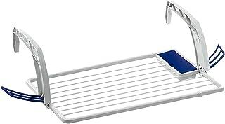 TENDENCIA ÚNICA Tendedero de balcón de Resina y Polipropileno en Blanco con Brazos Regulables. 10m de Longitud de tendido. Medidas: 98x53x5cm