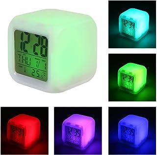 FOONEE Reloj Despertador LED con Función Snooze y Pantalla LED HD, Reloj Digital Silencioso de