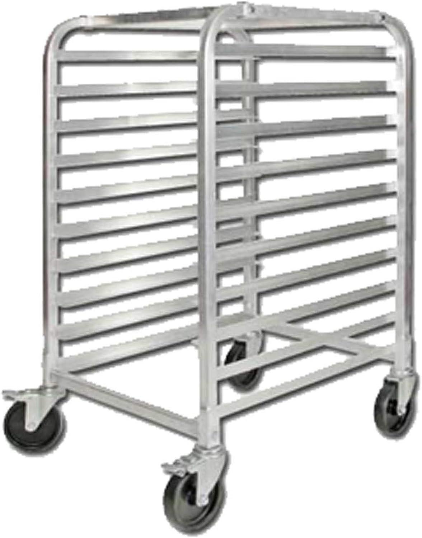 Winco ALRK-10BK 10-Tier Aluminum Sheet Pan Rack with Brake
