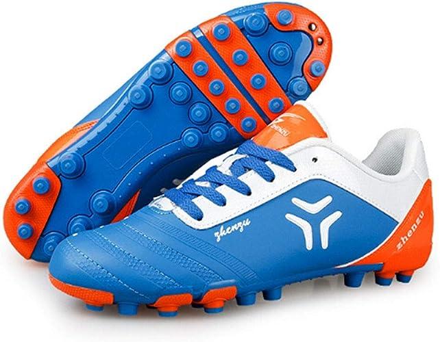 CELINEZL Le Football Brille Zhenzu Sportif en Plein air, entraîneHommest Sportif, Chaussures de Football à Ongles Courts, Taille EU  36