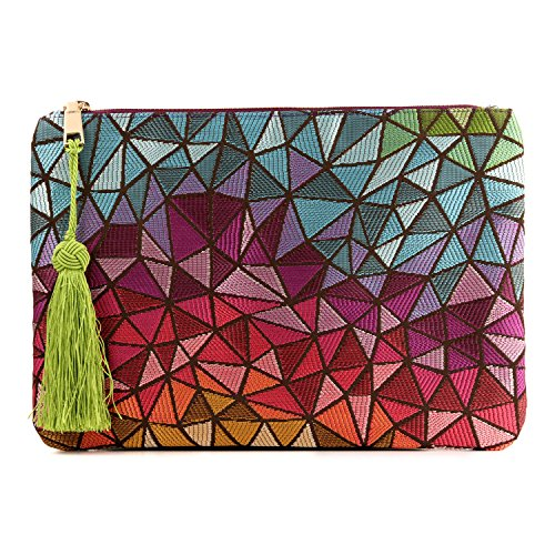 Otto Angelino Designer Women's Bohemian & Fashion Clutch Purse - Multiple Slots Money, Cards, Smartphone - Ultra Slim