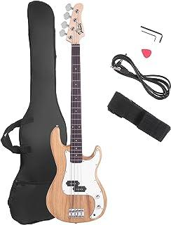 گیتار باس برقی Glarry Full Size 4 String Rosewood Basswood Fire Style Bissing Bass بافی عالی (چوب برلی)