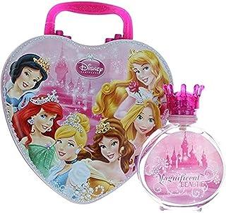 Disney Princess Magnificent Beauties Eau De Toilette Spray for Girls with Metal Lunch Box, 100 ml
