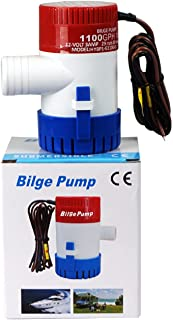 ECO-WORTHY Submersible Boat Bilge Water Pump 12v 750gph 1100gph 2000gph Automatic Submersible/Non-Automatic Marine Electri...