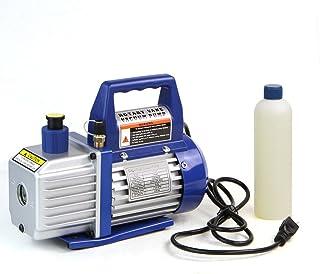 XtremepowerUS 1/4 HP 3 CFM Single Stage Rotary Vane Air Vacuum Pump with Oil Bottle HVAC Air AC A/C R410a R134 (3CFM)