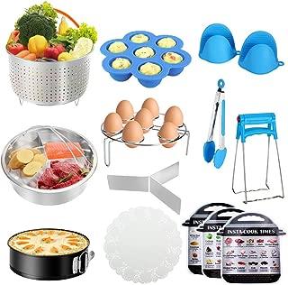 Instant Pot Accessories Set, 73 PCS Accessories Compatible with 5,6,8 Qt, Parchment Papers, 2 Steamer Baskets, Nonstick Springform Pan, Egg Rack, Egg Bites Mold, Kitchen Tong, Dish (Renewed)