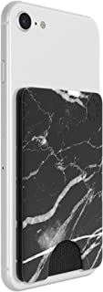 PopSockets PopWallet - Porte Tarjeta Elegante y Reposicionable para Teléfonos Móviles - White Marble