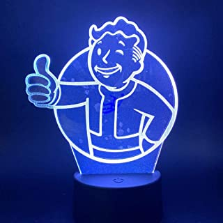 kssim Game Fallout Shelter 3d Led Night Light_t1 Sensor Color Changing Gift for Kids Child Bedroom Decorative Lamp 3d_t12