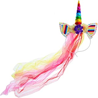 diy unicorn headband with tulle