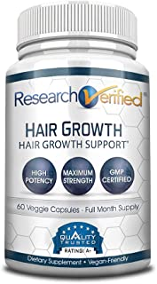 Research Verified Hair Growth Support - with Biotin, DHT Blockers & Vitamins - Hair Growth