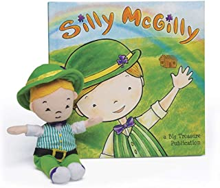 Silly McGilly Irish book & children's leprechaun toy (unpackaged), St. Patrick's Day Gift, Leprechaun Tricks, Irish children's book for home and classroom, Irish Family Fun