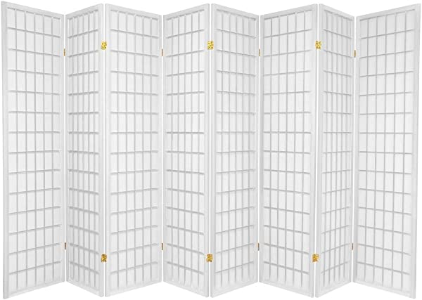 8 Panel Room Divider Square Design White 8 Panel