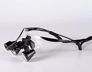 Songzi Optics (2.5X,3X,3.5X Optional) Black Goggles Frame Binocular Medical Dental Loupes Surgical Loupes & High Brightness Headlight (Working Distance :(360-460 mm) R, Magnification:2.5X)