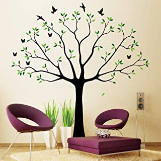 Family Wall Decal~Family Tree Wall Decal Stickers Living Room Home Decal Bed Baby Room Wall Decals, Memory Tree and Birds,Wall Stickers