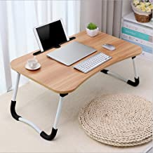 Laptop Desk, Home Computer Desk, Portable Bed Tray Table Notebook Stand Reading Holder with Foldable Legs & Slot for Eatin...