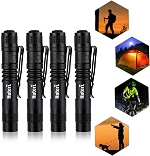 LED Mini Flashlight, [3 Light Modes] Super Bright Small Handheld Pen Light Strobe Tactical Survial Torch with High Lumens for Camping, Hiking, Outdoor, Emergency, EDC Flashlights (4 Pack)
