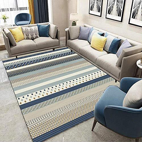 DYEWD Rugs Alfombra pieza, sala de estar decoración del hogar alfombra de pelo corto, diseño geométrico moderno dormitorio alfombra grande Lsy-27_200*300cm