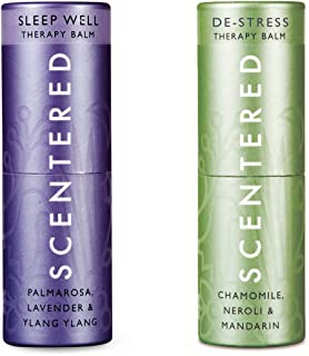 Scentered - SLEEP WELL & DE STRESS - Aromatherapy Balm Duo Gift Set - Supports Bedtime Relaxation, Restful ...