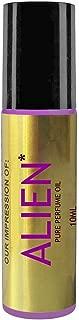 Premium Perfume IMPRESSION Oil with Similar Fragrance Accords Alien Perfume for Women, 10ml Purple Roller, Black Cap, 100% Pure-No Alcohol (Perfume Studio VERSION/TYPE; Not Original Brand)