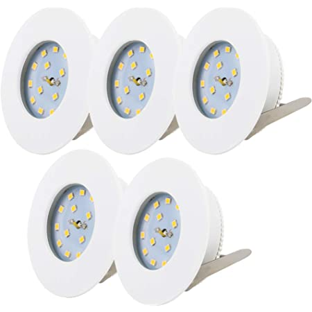 LED Bad Einbaustrahler230V5WFlaches LED ModulDimmbarChrom4000k