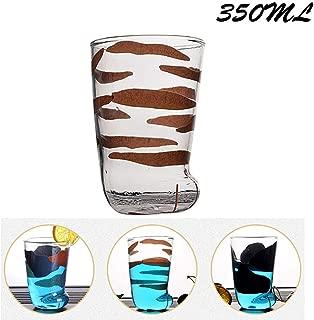 Cat Paw Glass Cup, Cute Cat Foot Claw Print Glass Mug for Coffee Funny Cat Paw Glass Mug Breakfast Milk Cup, 350ml Cat Paw Mug