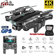 s61Ylu Mini Drone S167 GPS Drone with Camera 5G RC Quadcopter Drone 4K WiFi FPV Foldable Off-Point Flying Gesture Photos Video Helicopter Toy (2.4G 720P 1 Battery)