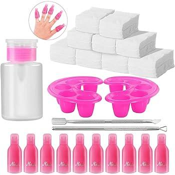 El juego de herramientas para remover esmalte de uñas, incluye almohadillas de algodón de 600 piezas,
