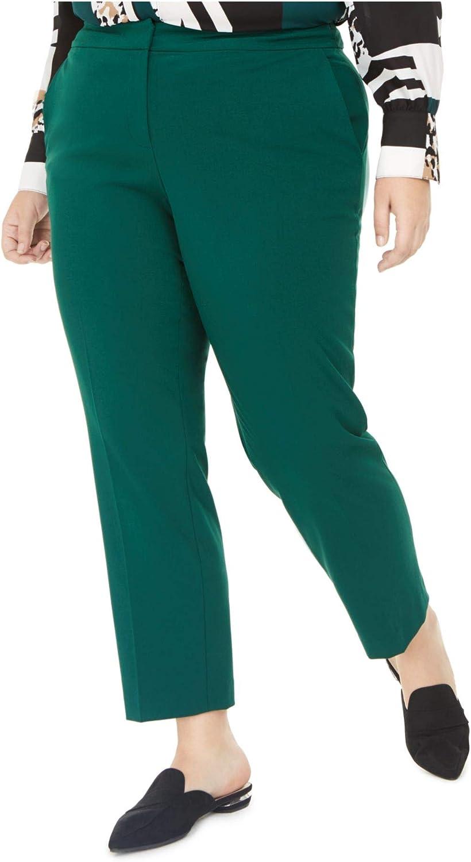 bar III Womens Plus Bi-Stretch Work Pants