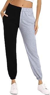 Aiboria Pantalones Deportivos Casuales para Mujer, Mujeres Largas Pantalones Chandal Patchwork Color De Retazos para Ropa ...