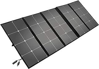 Litionite Arun 130W Panel solar plegable y portátil con soporte inclinado - Conexión MC4/DC - Ampliable para pequeño sistema solar - Cargador para generador de energía eléctrica/Power Generator