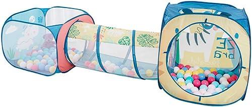 LINAG Kinderzelt Tunne Spielhaus Schloss Spielzelt Pop-Up Falten Einfaches Drinnen Draußen Jungs mädchen Spiele Klettern Geschenk Spiele Spielzeugspeicher Tent-6328