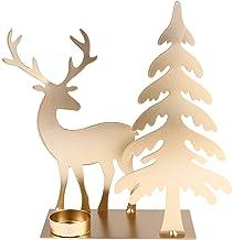 OSALADI 1 peça de enfeite de vela criativa de ferro de Natal
