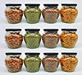 [USEFUL IN EVERY SETTING] : 400 ml capacity round glass jars are the ideal size for storing spices, herbs, jams, preserves, teas and more. It perfects for homemade candles ,wedding favors, shower favors, DIY craft gifts ,yogurt maker, pudding, baby f...