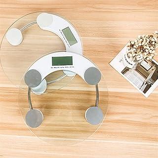 UYZ Báscula de Peso electrónica Profesional Báscula de Suelo doméstica Báscula de baño Mini báscula de Salud Humana Vidrio Templado Redondo Duradero