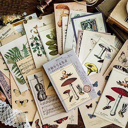 Yener Creatief Schrijven Groet Cadeau Ansichtkaarten Oud Bos Dieren PlantenKaarten Vintage Schrijfpapier Message Pad 30st