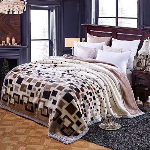 FRTU Plush Blanket Decorative, Lightweight,Thick double-layer super soft blanket, Raschel blanket, winter blanket, single and double blanket-A17_180 * 220cm
