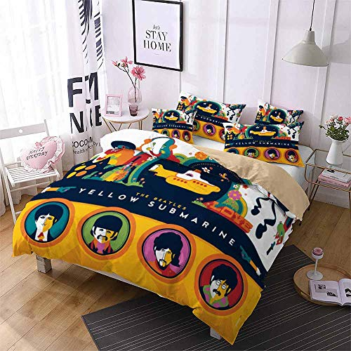 NYLIN Fundas de edredón El Beatles Juego de cama 140-210cmCama 80 / 903PCS multicolor