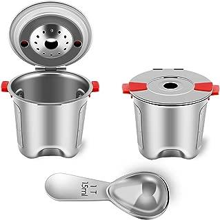 Reusable K Cups for Keurig 2.0 & 1.0 Coffee Maker Stainless Steel Keurig Reusable Pod Universal Refillable Keurig Coffee Filter BPA FREE (2 PACK with Spoon)