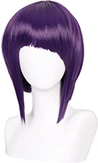 ColorGround Short Dark Purple Anime Cosplay Wig