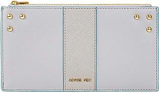 Angel Sky Women Contrast Painted Edge Wallet RFID Blocking Bifold Multi Card Case Wallet with Zipper Pocket