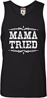 Adult Mama Tried Retro Country Music Sleeveless Tank Top Cotton T-Shirt