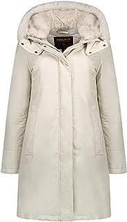 Woolrich Women Bow Bridge Hooded Tech-Fabric Jacket White Igloo Size S