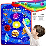 Paloura Solar System Toys - Electronic Interactive Educational Talking Poster Learn Names & Songs & Facts & Games of Planet Learning Toys for 3,4,5,6,7,8 Year Old Boys & Girls Gifts for Toddlers/Kids…
