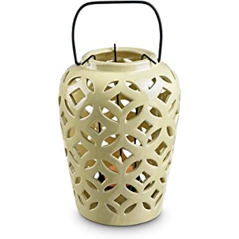 SPI Home Cream Leaf Lantern
