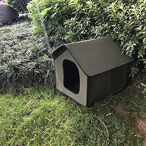 DEECOZY Niche étanche pour chat et chien - Maison d'extérieur imperméable pour chat - Maison pour animal domestique - Maison pour chat - Tente pliable