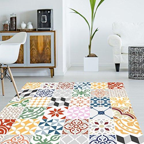 Viniliko Tapis, Vinyle, Multicolore, 133x 200x 3cm