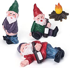 Shipping by Amazon 4pcs Fairy Garden Accessories Collectible Figurines Miniature Gardening Gnomes Figurines Ornaments My Little Friend Gnome Kit Mini Garden Gnomes -Garden Gnome Set